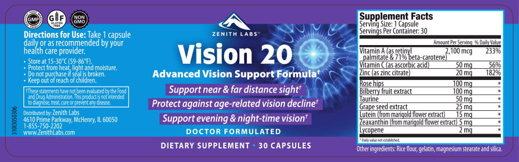 zenith labs vision 20